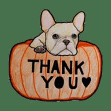 Halloween French bulldog Sticker sticker #1045380