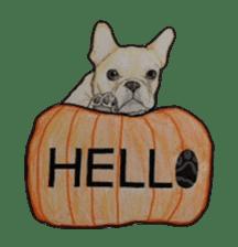 Halloween French bulldog Sticker sticker #1045381