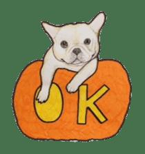 Halloween French bulldog Sticker sticker #1045382