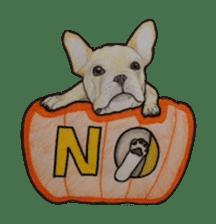 Halloween French bulldog Sticker sticker #1045383