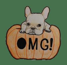 Halloween French bulldog Sticker sticker #1045384