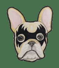 Halloween French bulldog Sticker sticker #1045387
