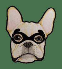 Halloween French bulldog Sticker sticker #1045388