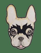Halloween French bulldog Sticker sticker #1045389