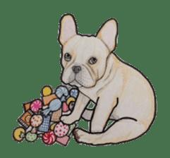 Halloween French bulldog Sticker sticker #1045391