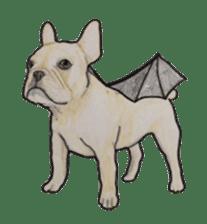 Halloween French bulldog Sticker sticker #1045392