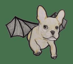 Halloween French bulldog Sticker sticker #1045393
