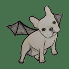 Halloween French bulldog Sticker sticker #1045394