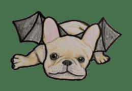 Halloween French bulldog Sticker sticker #1045395