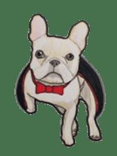 Halloween French bulldog Sticker sticker #1045396
