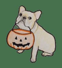Halloween French bulldog Sticker sticker #1045398
