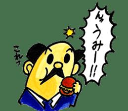 Uncle Sakai fromAMAGASAKI with mustache. sticker #1045488
