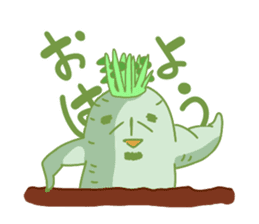 Vegetables gentleman sticker #1046322
