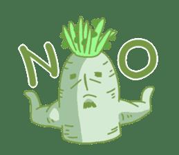 Vegetables gentleman sticker #1046324