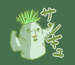 Vegetables gentleman sticker #1046325