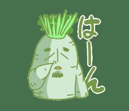 Vegetables gentleman sticker #1046327