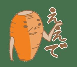 Vegetables gentleman sticker #1046334