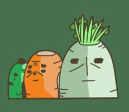 Vegetables gentleman sticker #1046359