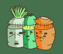 Vegetables gentleman sticker #1046360