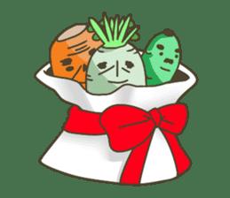 Vegetables gentleman sticker #1046361