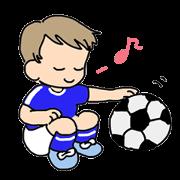 สติ๊กเกอร์ไลน์ Let`s play soccer!
