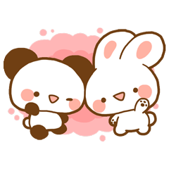 Cute animals,Sticker of negative