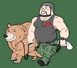 Beard Bear Man sticker #1050354