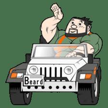Beard Bear Man sticker #1050355