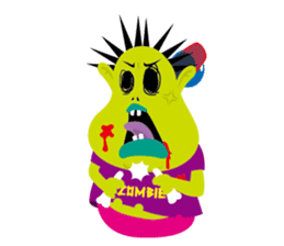 Zombie Fall in love sticker #1050490