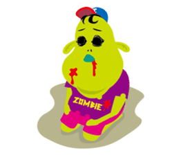 Zombie Fall in love sticker #1050491