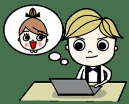 Mr. CLASSICAL and Miss MODAN sticker #1051914