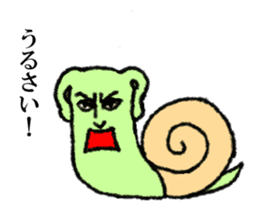 Land snail guy sticker #1051966