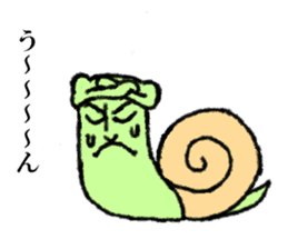 Land snail guy sticker #1051977