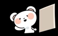 Mr.White bear sticker #1057780