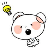 Mr.White bear sticker #1057781