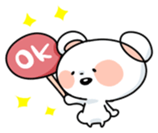 Mr.White bear sticker #1057786