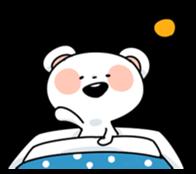 Mr.White bear sticker #1057789