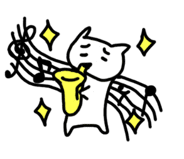 cat brassband sticker #1058336