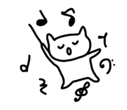 cat brassband sticker #1058355