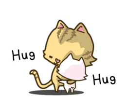 Tabby cat sticker -English- sticker #1059163