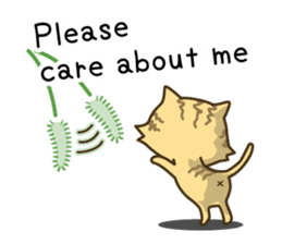 Tabby cat sticker -English- sticker #1059165