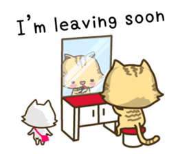 Tabby cat sticker -English- sticker #1059167