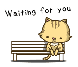 Tabby cat sticker -English- sticker #1059169