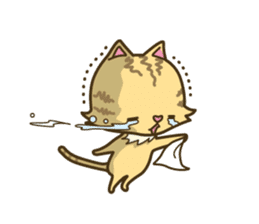 Tabby cat sticker -English- sticker #1059170