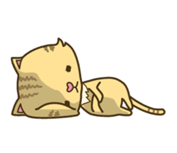 Tabby cat sticker -English- sticker #1059175
