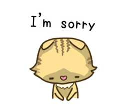 Tabby cat sticker -English- sticker #1059177