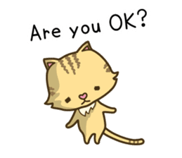 Tabby cat sticker -English- sticker #1059183