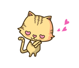 Tabby cat sticker -English- sticker #1059185