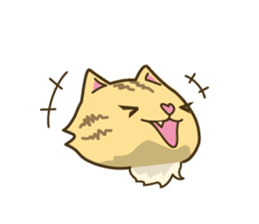 Tabby cat sticker -English- sticker #1059190