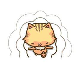 Tabby cat sticker -English- sticker #1059194